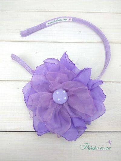 Ръчно изработена диадема с цвете