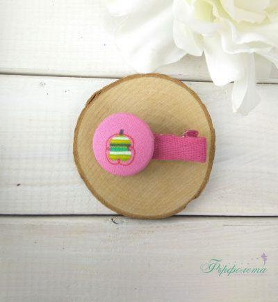 Комплект ръчно изработени фиби с копчета - Пеперудена фантазия