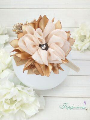 Диадема с фиба цвете