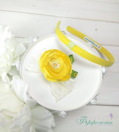 Диадема с цвете – Слънце
