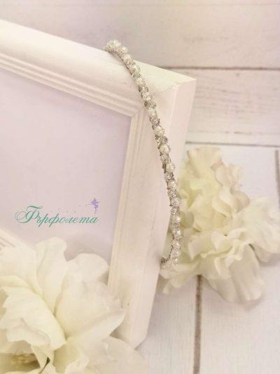 Диадема с перли и кристали (1)