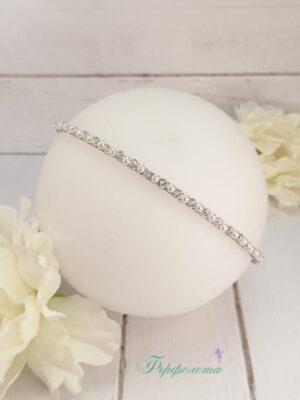 Диадема с перли и кристали