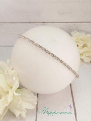 Ръчно изработена диадема с кристали
