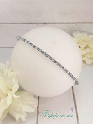 Тънка диадема с кристали