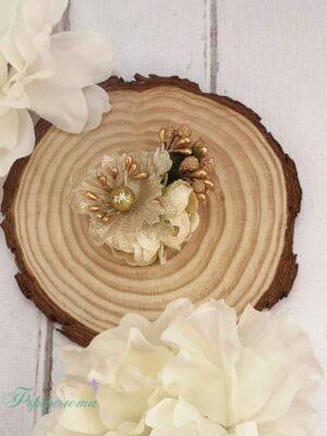 Ръчно изработена фиба с цвете