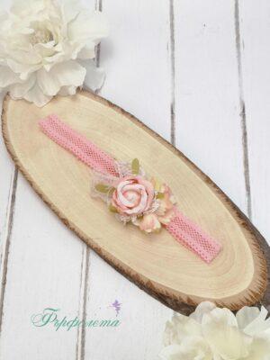 Лента за коса с цветя