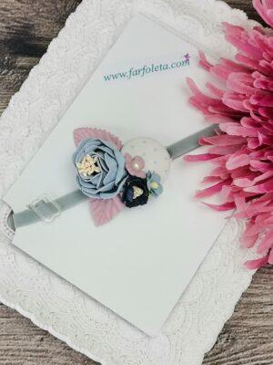 Бебешка лента с цветя